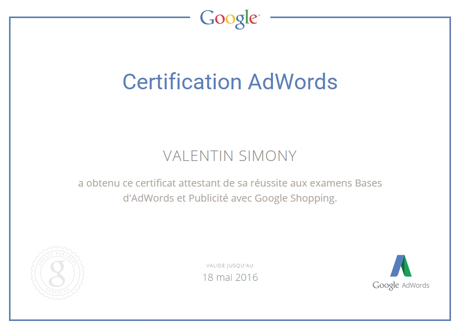 certification google shopping